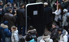 A 6 foot iPhone monument is in Russia commemorating Steve Jobs    It has a QR Code on the back which takes you to his memorial site and video screen that plays highlights from Jobs' life and quotes from his speeches.