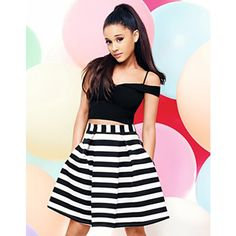 ARIANA GRANDE FOR LIPSY SWEETHEART BARDOT CROP TOP ❤ liked on Polyvore featuring tops, sweetheart neckline crop top, crop top, sweetheart neckline top, sweetheart crop top and lipsy