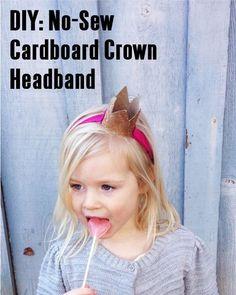 DIY: No-Sew Cardboard Crown Headband