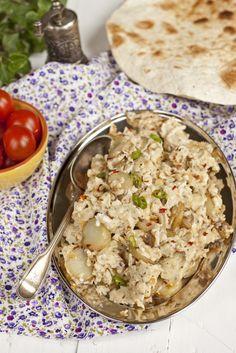 jajecznica, jajecznica z ziemniakami, kuchnia arabska, arabskie śniadanie, pomysł na śniadanie,