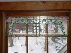 JilMac of Mac-Rand Systems & Designs Stained Glass Window Valance