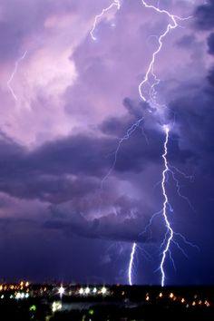Lightnimg Storm Seattle,Washington