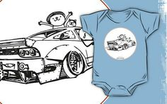 'Crazy Car Art Kids Clothes by ozizo Weird Cars, Car Illustration, Kustom Kulture, Graphic Sweatshirt, T Shirt, Simple Dresses, Old School, Kids Outfits, One Piece