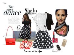 """The last dance in """"Black Polka Dot Flare Skirt"""" by fatima-840 on Polyvore featuring moda, Chicwish, The Limited, Jason Wu, Rifle Paper Co, Too Faced Cosmetics, Bobbi Brown Cosmetics, Anja, PolkaDots and blackandwhite"""