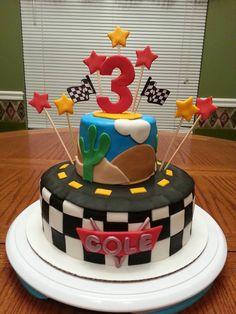 cars theme birthday boy cake