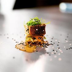 I was blown away when I started at the French Laundry and this dish: Unagi with seaweed salad, was one of the canapés. I would have never thought I'd see Japanese ingredients and flavors coming out of that kitchen. I am sure glad it was. Next: French Laundry 1996 @chefthomaskeller @jennertomaska @bornburgundy #platedonthepass #canape #tfl