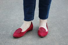 872e31262c4c Denise s ADORABLE Red flats styled with our Maxine Multi-Strand Necklace  from Coco and Duckie
