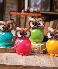Look at this #zulilyfind! Ceramic Owl Set #zulilyfinds