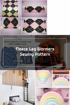 Sewing Tutorials, Sewing Patterns, Wooden Rainbow, Leg Warmers, Diy For Kids, Upcycle, Kids Fashion, Creative, Women