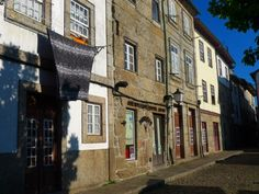 Streets of Guimaraes, UNESCO World Heritage Site and City of Culture 2012. Portugal.