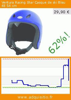 Ventura Racing Star Casque de ski Bleu 48 54 cm (Sport). Réduction de 62%! Prix actuel 29,90 €, l'ancien prix était de 79,00 €. https://www.adquisitio.fr/ventura/racing-star-casque-ski-1