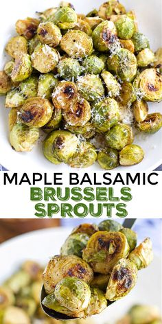 Delicious Vegan Recipes, Best Vegetarian Recipes, Vegan Dinner Recipes, Vegan Dinners, Veggie Recipes, Cooking Recipes, Veggie Food, Cooking Brussel Sprouts, Brussels Sprouts