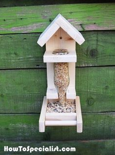 How to Build a Bottle Bird Feeder   HowToSpecialist - How to Build, Step by Step DIY Plans #howtobuildabirdhouse