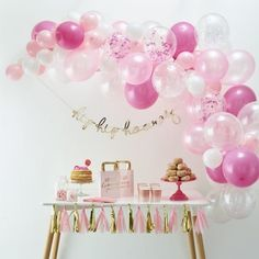 Ginger Ray Pink Latex Balloon Arch Kit Make your bridal shower, birthday party, girl baby shower or other pink party really stand out with this balloon arch kit! Assemble your arch any way . Balloon Arch Diy, Ballon Arch, Balloon Backdrop, Balloon Garland, Balloon Decorations, Balloon Columns, Balloon Background, White Balloons, Confetti Balloons