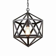 Geometric Pendant Light E27 Black Vintage Industrial Cage Ceiling Large Fitting 6783808374446 | eBay Best Kitchen Lighting, Kitchen Pendant Lighting, Pendant Chandelier, Creative Lamps, Unique Lamps, Hanging Light Fixtures, Hanging Lights, Lustre Edison, Loft Lighting