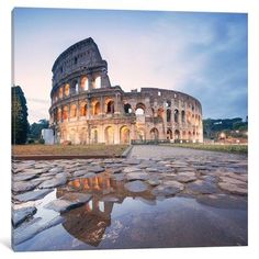 """East Urban Home 'The Colosseum, Rome, Lazio, Italy' Photographic Print on Wrapped Canvas Size: 48"""" H x 48"""" W x 1.5"""" D"""