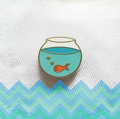Pin Club Lonely Goldfish Pin