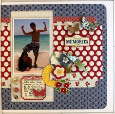 FRESH MEMORIES - Scrapbook.com - Love the bright use of colors. #scrapbooking #layout #americancrafts #summer