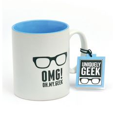 Uniquely Geek Geek mug (6.00 CAD) ❤ liked on Polyvore featuring home, kitchen & dining, drinkware, props, accessories, coffee, mugs, sale and coffee mugs