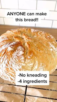 Artisan Bread Recipes, Easy Bread Recipes, Quick Bread, Fun Baking Recipes, Cooking Recipes, Biscuit Bread, Vegan Bread, Le Diner, Mets