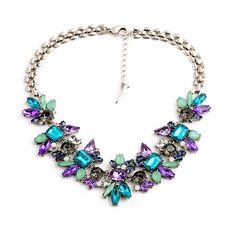 "Clo Clo London - Marisole. Vintage evening piece with sparkling faux stones Medium weight Length: 41cm (16.1"") - 47cm (18.5"")"