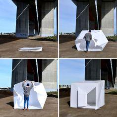 Conheça o projeto de arquitetura instantânea em caso de emergência desenvolvido pelo operário australiano Alastair Pryor.