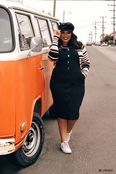Product Name:Plus Size Denim Overall Dress, Category:CLEARANCE_ZERO, Price:34.9