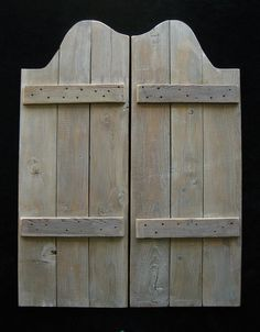 Very Simple Swinging Doors That We Could Make (and Paint In Green If We Don