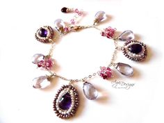 (5) Name: 'Jewelry : Faceted briolettes with pearls