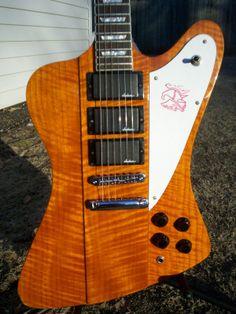 Custom Built Firebird Style Guitar