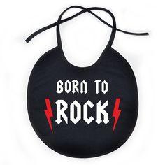 Bavoir bébé rock : BORN to ROCK