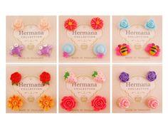 12 Pairs Lot of Cute Kids Plastic Soft Post Stud Earrings for Girls Children A6 #Stud
