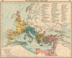 interesting-maps:  Roman Empire at 395 CE, from the Historical Atlas, by William R. Shephard, 1911.