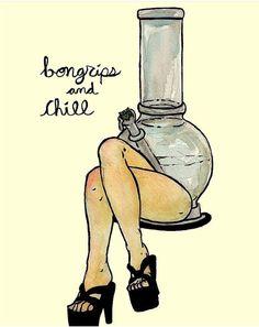 Can't we just take bong rips and chill? #missmaryjaneco #mmjco @hiddenstashart