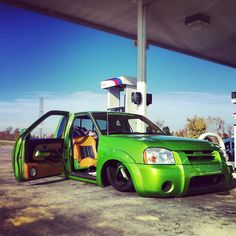 Mini truck #oneofmanydreamcars Bagged Trucks, Lowered Trucks, Mini Trucks, Lifted Trucks, Nissan Hardbody, All Truck, Low Life, Car Mods, Custom Bags