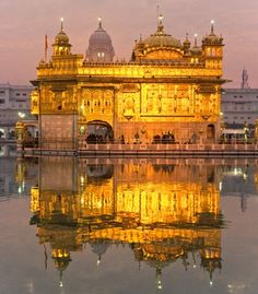 Initial construction began on the Harmandir Sahib (aka the Golden Temple) in Amritsar, India in 1588; the signature external gold plating and marble were added in the early 1800s. (From: Photos: World's Most Striking Temples)