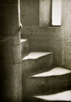 Domstufen Köln  Photo Hannes Maria Flach-I have loved this image since I first saw in college. How many feet, how many years have worn grooves into these stairs?