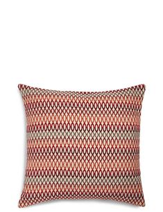 Buy the Geo Chenille Cushion from Marks and Spencer's range. Printed Cushions, New Living Room, Throw Pillows, Geo, Toss Pillows, Fresh Living Room, Decorative Pillows, Decor Pillows, Scatter Cushions