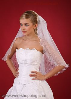 Wedding Veil - frilly tulle