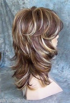 shag hair styles medium hair cuts with bangs used to thick hair and 8340