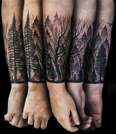 28 Mejores Imágenes De Bosque Tattoo Forest Tattoo Sleeve Forest