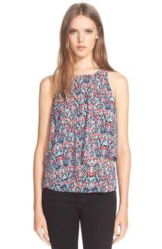 Trina Turk  Kesso  Print Stretch Silk Sleeveless Top available at   Nordstrom Roupas eb454170a2b
