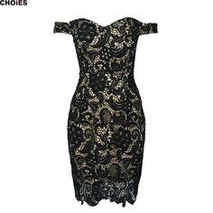 Женщин 2 цветов от плечу сплит назад выдалбливают Bodycon кружевном платье слэш шею назад молния новинка империи одеждакупить в магазине ChoiesнаAliExpress
