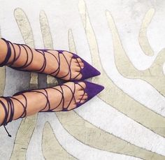 Purple Pumps found on TheyAllHateUs Dream Shoes, Crazy Shoes, Me Too Shoes, Ankle Boots, Heeled Boots, Shoe Boots, Christian Louboutin, Mode Shoes, All About Shoes