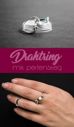 RING ♥ Twisty ♥ Schwarz & Weiß | Ring, Wire wrapping and Diy design