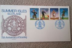 75th anniversary of Scouting. First Day Cover, 1 May 1982