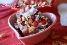 Cherry Almond Chocolate Bark | TheBestDessertRecipes.com