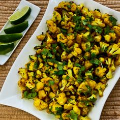 Recipe for Curried Sauteed Cauliflower; this vegan dish is quick and delicious! [from Kalyn's Kitchen] #MeatlessMonday