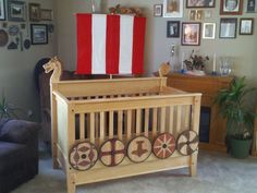I have been planning to viking-ize the toddler's room for a while. This is good inspiration!