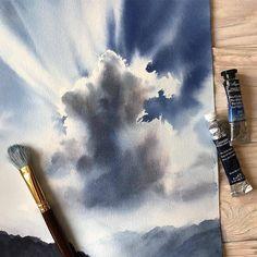#Cartel_watercolorists @dlinnychulok(@repost_via_instant)Make love and blue sky Только мирного неба #aquarela #aquarell #watercolorblog…
